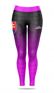 Women's sports leggings with a raised Tradico waist