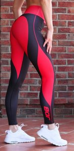Luxury women's sports leggings with a high Carrera waist