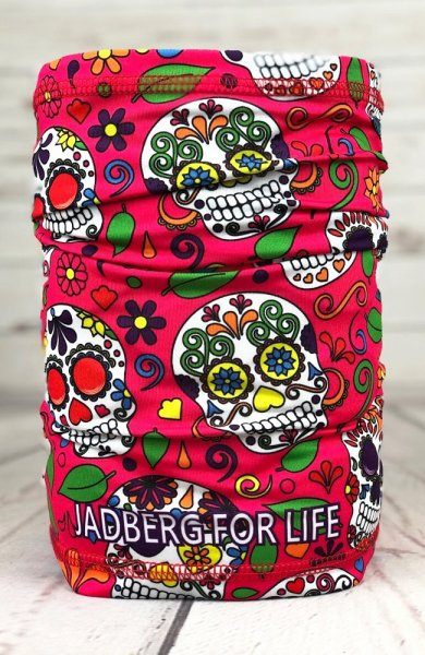 Calavera-PNK multifunction neckerchief