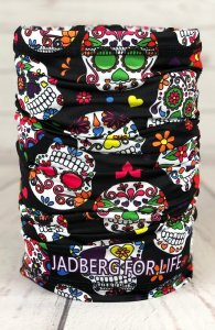 Multifunctional scarf-neckerchief Calavera-BLK