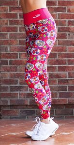 Women's sports leggings with a high waist Calavera