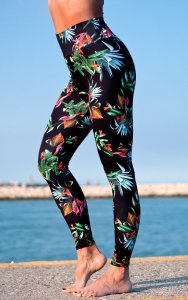 Luxury women's sports leggings with a high waist Night Jungle