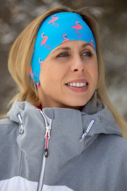 Insulated headband Flamingo