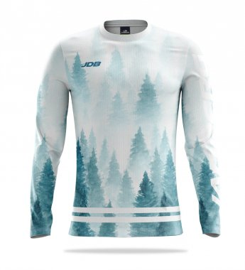 Women's thermal T-shirt with long sleeves Thermo + Winter Forest