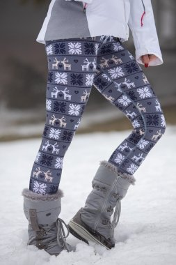 Insulated women's leggings with a high waist Deer